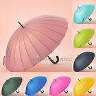 "17 Color 40"" Stick Hook Handle Rain Umbrella Sun Parasol for Wedding Photo Decor"