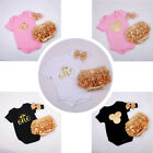 3pcs Infant Baby Girl Headband+bodysuit+shorts Outfit Clothes Ropa De Bebe Set