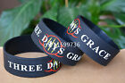"25pcs/lot THREE DAYS GRACE Silicone 1"" Wide Filled in Colour Wristband Bracelet"