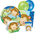 BOY MONKEY New Baby Shower Party Range - Tableware Balloons & Decorations