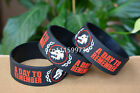 "A DAY TO REMEMBER Silicone 1"" Wide Debossed Filled in Colour Wristband Bracelet"