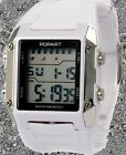White Watchcase Chronograph Alarm Boy Girl White Color Band Digital Watch DW379B