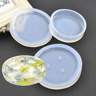 Round Plate Transparent Silicone Mould Fmold or DIY Making Tray Ashtray Soap Box