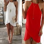 Sexy Boho Women Chiffon Summer Party Beach Vest Top Skirt Mini Dress Sundress