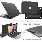 2 IN 1 New Macbook Case 12-inch, Matte Hard Shell Protective Case Keyboard Cover
