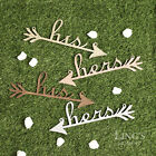 5 Colors His and Her Wood Arrow Wedding Chair Sign