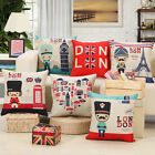 45×45 England Style Soldiers Cotton Linen Pillow Case Cushion Home Sofa Decor