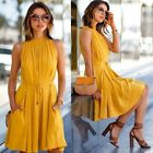 Women Sexy Boho Summer Casual Chiffon Evening Party Beach Long Maxi Dress