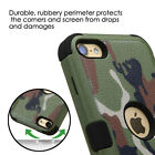 For iPod Touch 5th 6th 7th Gen - Hard&Soft Rubber Hybrid Rugged Armor Skin Case
