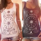 Women Fashion Off Shoulder Sleeveless T Shirt Casual Loose Tops Blouse  EN24H