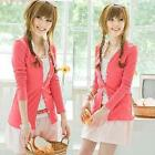 Lady Womens Casual Sweater Coat Crochet Knitted Button Cardigan Shirt Outwear