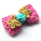 Trim Crochet Ribbon Flowers Bows Winter Appliques Wedding Deco Mix A465