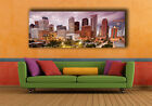 """Houston downtown, Skyline at dusk, Huge canvas print, 50"""" x 19"""", Panoramatic"""