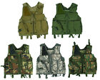Hunting Airsoft Tactical Combat Hunting Vest Lightweight with Holster Pouch Bag