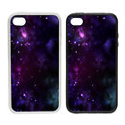 Purple Space -Rubber and Plastic Phone Cover Case- Abstract Design