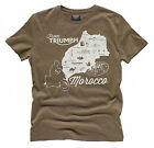 Triumph Map Of Morocco Mens T-Shirt $29.9 AUD on eBay