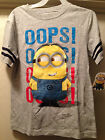 DESPICABLE ME 2 Minion Kids Boys Gray Tee T Shirt Size S-L Back to School New