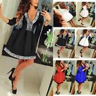 Kyпить New Women Summer Casual Long Sleeve Evening Party Cocktail Lace Short Mini Dress на еВаy.соm