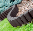 Garden Fence Lawn Edging Boarder Edge Hammered Palisade Fencing Plastic 2,80m