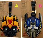 Optimus Prime Transformers Bumblebee Travel Luggage Tag School Bag Silicone NEW