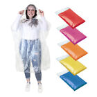 2 X EMERGENCY PONCHO - RAIN WATERPROOF PACAMAC MAC - OUTDOOR FESTIVAL CAMPING BN