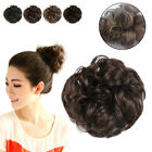 Drawstring Wavy Curly Buns Clip-In Hair Girls Womens Hairpiece