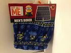 Despicable Me 2 Mens Minion Blue Christmas Boxer Shorts Small 28-30 Brand New