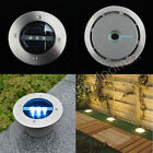 Solar Power 3 LED Light Lamp Outdoor Garden Path Under Ground Decking Bury Lamp