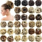 Clip In Wave Curly Drawstring Hair Bun Chignon Piece Updo Cover Hair Extensions