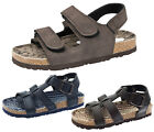 Boys Faux Leather Sandals Flat Holiday Beach Walking Comfort Shoes Kids Size