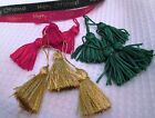 MINI TASSELS PACK OF 10 OR 20 CHRISTMAS COLOURS.