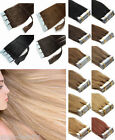 22''-26'' Tape In Skin Weft Remy  Brazilian Virgin Human Hair Extensions 20pcs