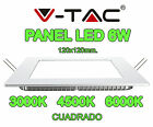PLACA PANTALLA PANEL LED V-TAC 6W 120X120X25MM SUPER SLIM CUADRADO 400 LUMENES