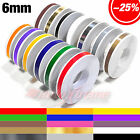 "6mm 1/4"" x 9.8m PinStripe PinStriping SINGLE PIN STRIPE Tape Decal Vinyl Sticker"