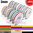 "3mm 1/8"" x 9.8m PinStripe PinStriping SINGLE PIN STRIPE Tape Decal Vinyl Sticker"