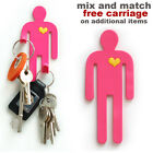 Pink man flexible magnetic hook. Hang tea towels, keys. New kitchen. Magenta