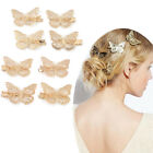 4 Pcs Golden Filigree Hollow Butterfly Hair Clips Hairpin Wedding Bride Jewelry