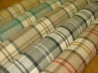 """Stirling"" Wool Effect Washable Thick Tartan Check Upholstery Curtain Fabric"