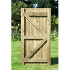 Featheredge Gate Wooden Garden Side Gate - Green / Brown Treated 175cm x 90cm