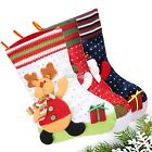 Christmas Decor Santa Stocking Kids Candy Bag Handbag Hangers Plush Pocket S0BZ