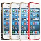 Ultra-thin Aluminum Buckle Metal Frame Bumper Case Cover For Apple iphone 5 5S