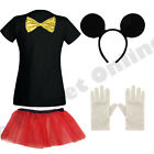 CHILDRENS KIDS GIRLS CHILD MICKEY MOUSE FANCY DRESS COSTUME & SKIRT TV FILM