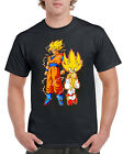 New Unisex Goku and Sonic Anime Cartoon Short Sleeve Novelty T-Shirt Black