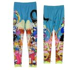 Adventure Time With Finn And Jake Cast Licensed Leggings S-XL