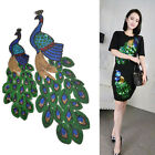 1 Pc Paillette Sequin Peacock Pattern Patch Applique For DIY Sewing Sew Clothing