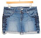 NWT MAURICES Woman PLUS Mayan Aztec Shorts Stylish Cropped Mid Rise Denim 14-24