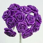 CADBURY PURPLE ROSES - WIRED RIBBON - PERFECT FOR WEDDING FAVOURS, INVITATIONS
