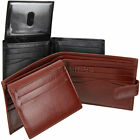 Premium Leather Wallet : ID/Pass Window : Multiple Credit Cards : Black or Brown