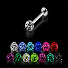 1.2MM LIP STUD LABRET SMOOTH CRYSTAL GEM BAR RING PIERCING FERIDO CLEAR BLUE RED