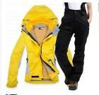 Women Hiking Wear Outdoor Windproof Waterproof Coat Pant mountaineering ski suit